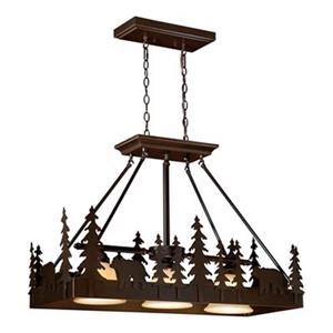Cascadia Lighting 3-Light Bohemian Kitchen Island Light
