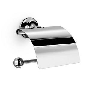 WS Bath Collections Venessia 52907 Complements Polished Chrome Toilet Paper Holder With Cover