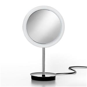 WS Bath Collections Freestanding Make-Up/Magnifying Mirror with LED Light