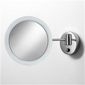 WS Bath Collections Wallmount Make-Up/Magnifying Mirror with LED Light