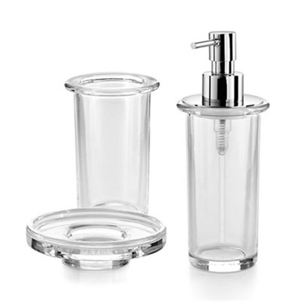 WS Bath Collections Saon 5500 Complements Soap Dish and Soap Dispenser Tumbler Set