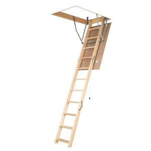 "Folding Attic Ladder - 25"" x 47"" - Wood - Clear"
