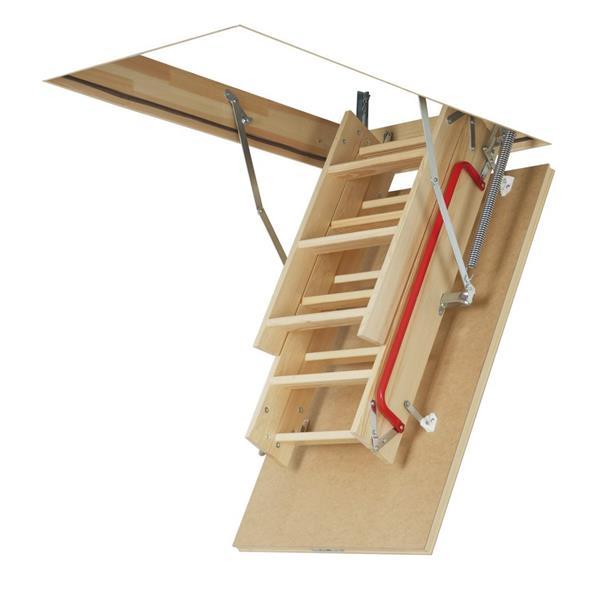 """Folding Attic Ladder - 30"""" x 54"""" - Wood - Clear"""