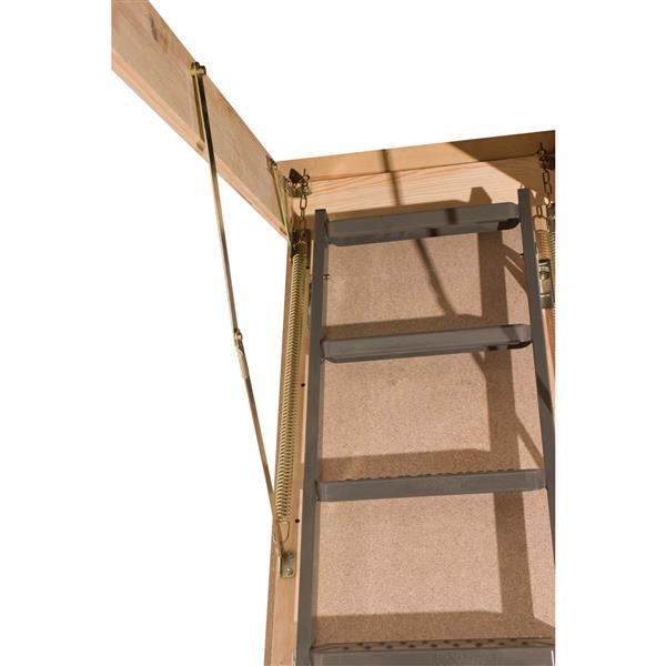 "Folding Attic Ladder - 25"" x 54"" - Steel - Gray"