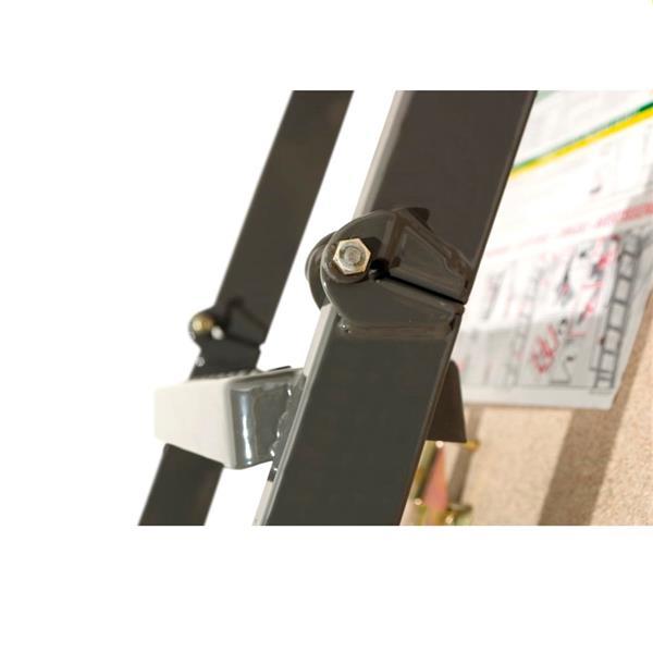 "Folding Attic Ladder - 22.5"" x 47"" - Steel - Gray"