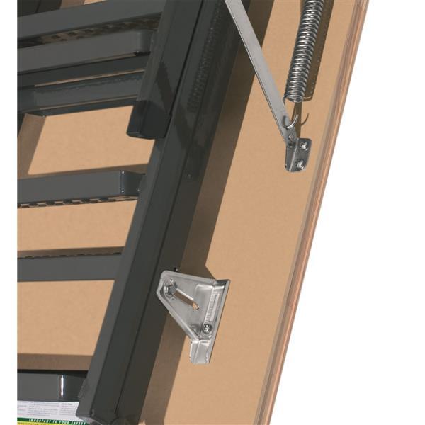 "Folding Attic Ladder - 22.5"" x 54"" - Steel - Gray"