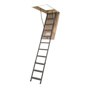 "Fakro Scissor Attic Ladder - 25"" x 47"" - Steel - Gray"