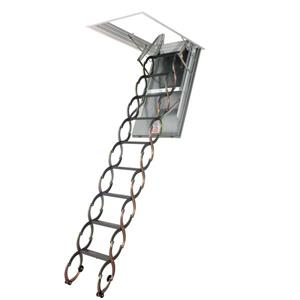 "Scissor Attic Ladder - 22.5"" x 47"" - Steel - Gray"