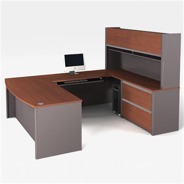 Bestar 938 Connexion U-Shaped Workstation with Optional Hutc