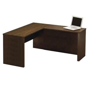 Bestar Prestige 30.40-in x 62.70 Dark Brown L-Desk