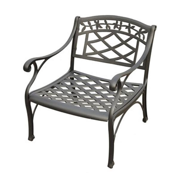 Crosley Furniture Charcoal Black Sedona Outdoor Club Chair