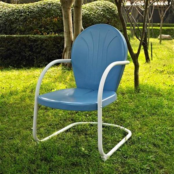 Crosley Furniture Griffith Blue 4-Piece Outdoor Conversation Set