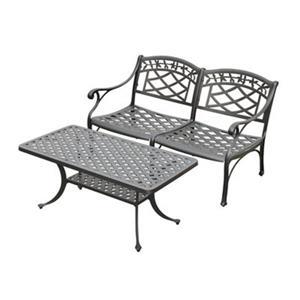 Crosley Furniture Sedona Black 2-Piece Outdoor Conversation Set