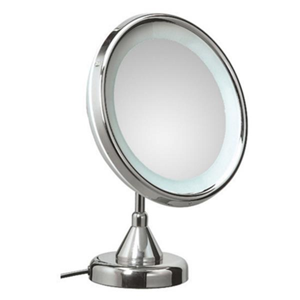 WS Bath Collections Luccicolo Mirror Pure lll Free Standing Telescopic Magnifying Make-Up Mirror With Incandescent Light