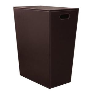 WS Bath Collections Complements II Brown Hamper with Internal Bag and Lid