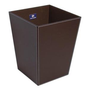 WS Bath Collections Ecopelle Collection Complements 18.90-in x 16.90-in Dark Brown Waste Basket
