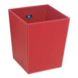 WS Bath Collections Ecopelle Collection Complements 18.90-in x 16.90-in Red Waste Basket