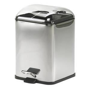 WS Bath Collections Karta Collection Complements 11.40-in x 8.30-in Clear Foot Pedal Waste Basket
