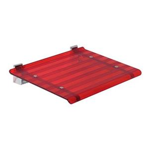 WS Bath Collections Red Wall Mount Shower Seat
