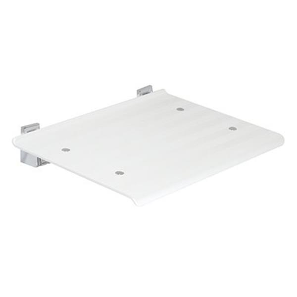 WS Bath Collections Leo White Wall Mount Shower Seat