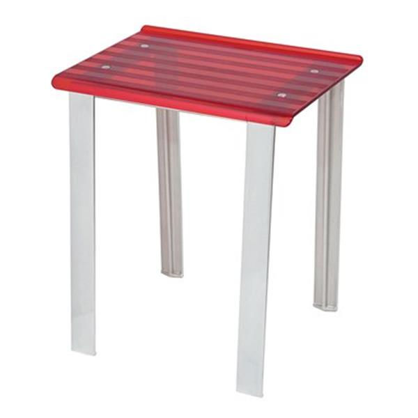 WS Bath Collections Leo 18.1-in Red Shower Seat