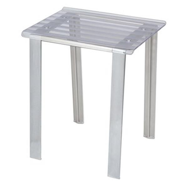 WS Bath Collections Leo 18.1-in Transparent Shower Seat