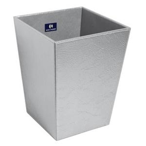 WS Bath Collections Perle Complements 11.80-in x 9.10-in Chrome Waste Basket