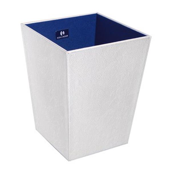 WS Bath Collections Perle Complements 11.80-in x 9.10-in White Waste Basket