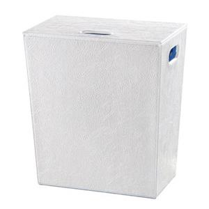 WS Bath Collections Complements II White Laundry Basket with Internal Bag