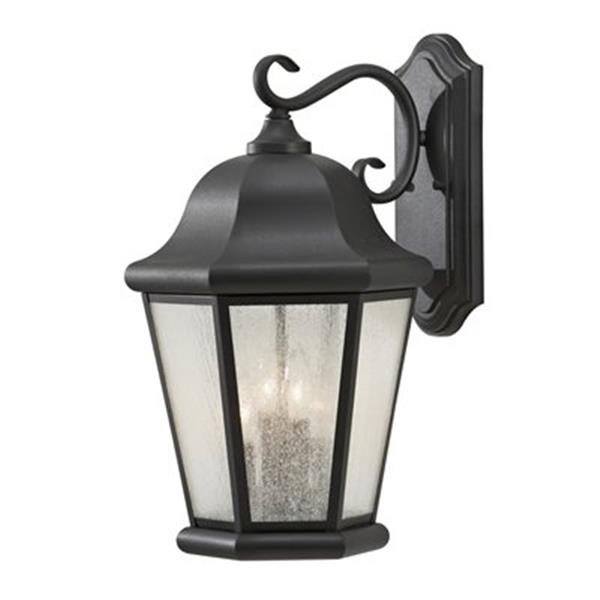 Feiss Martinsville 20-in Black Outdoor Sconce