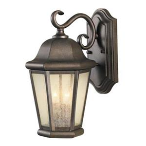 Feiss Martinsville 14.5-in Corinthian Bronze Outdoor Sconce.