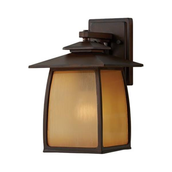 Feiss Wright House12.5-in Sorrel Brown Outdoor Sconce