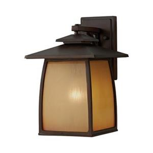 Feiss Wright House 13.88-in Sorrel Brown Outdoor Sconce.