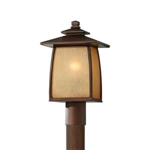 Feiss Wright House Sorrel Brown Post Mount Light