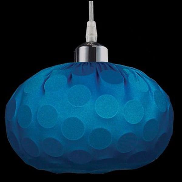 Classic Lighting Laguna Collection 8-in x 7-in Hawaiian Blue Dome Mini Pendant Light