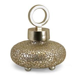 IMAX Worldwide 16-in Silver Round Myriad Lidded Vase