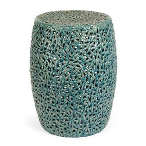 IMAX Worldwide Indigo Cutwork Garden Stool