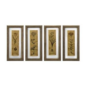 IMAX Worldwide Cassander Double Glass Print Wall Art (Set of 4)