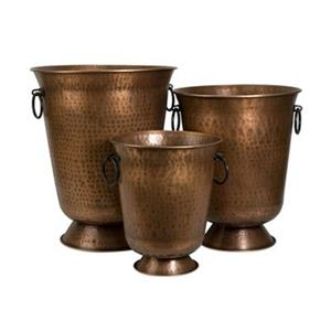 IMAX Worldwide Meziere Copper Plated Planters (Set of 3)