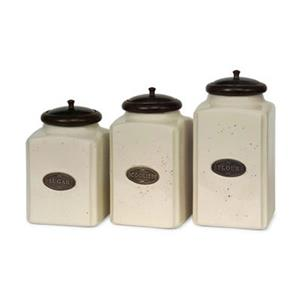 IMAX Ivory Worldwide Canisters (3 Pieces