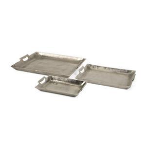 IMAX Worldwide Aluminum Lindi Aluminum Trays (Set of 3)