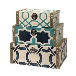 IMAX Worldwide Canvas/Linen Hadley Boxes (Set of 3)