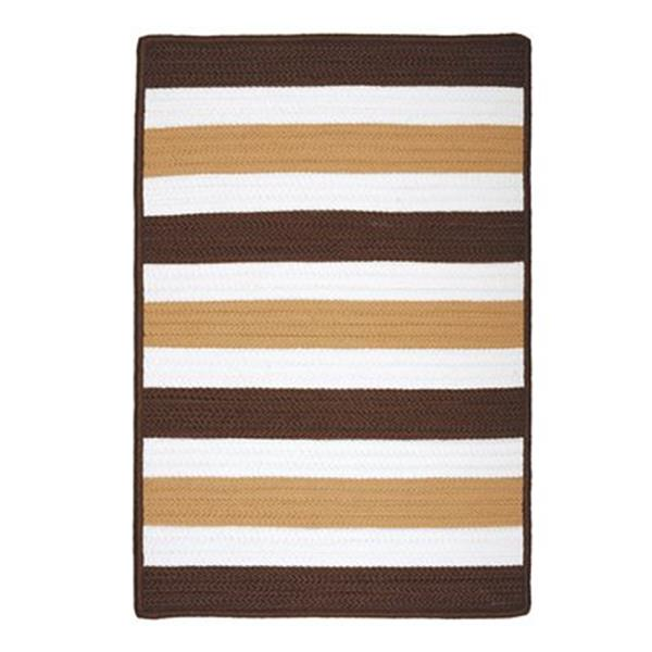 Colonial Mills Portico 2-ft x 10-ft Espresso Stripe Indoor/Outdoor Area Rug