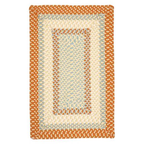 Colonial Mills Montego 7-ft x 9-ft Tangerine Indoor/Outdoor Area Rug