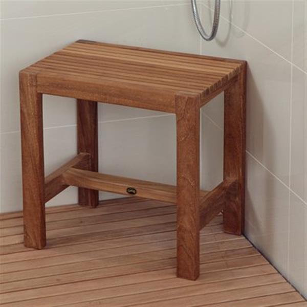 """ARB Teak & Specialties Fiji Shower Bench - 17.7"""" - Teak - Brown"""