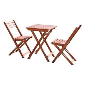 Vifah Malibu Outdoor 3-Piece Wood Bistro Set