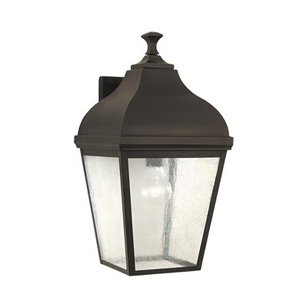 Feiss Terrace 18.50-in Oil Rubbed Bronze Exterior Wall Sconce