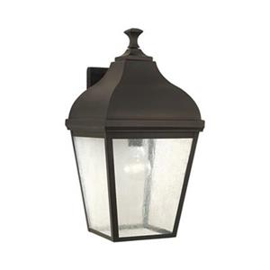 Feiss Terrace 18.50-in Oil Rubbed Bronze Exterior Wall Sconce.