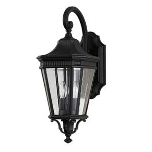 Feiss Cotswold Lane 20.5-in Black 2-Light Exterior Wall Sconce