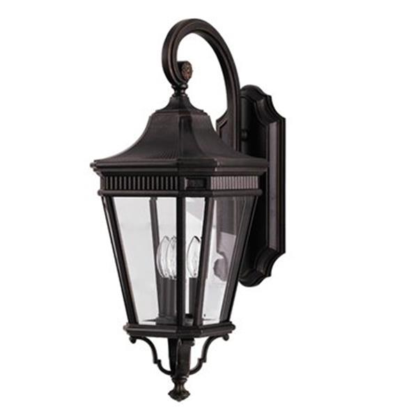 Feiss Cotswold Lane Grecian Bronze 3-Light Exterior Wall Sconce